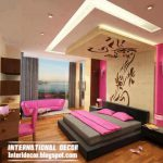 Bedroom Design Ideas New Ceiling And Pink Paint Scheme