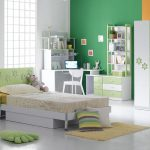 Bedroom Green Orange And Gray Interior Wall Paint Color Ideas