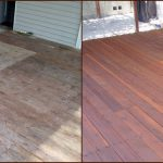 Before And After Deck Pressure Wash Stain Chanhassen