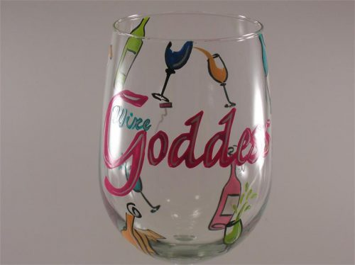 Birthday Wine Glass Hand Painted Girl Gift Ideas