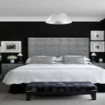 Black And White Bedroom Accent Wall Paint Ideas