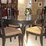 Black Painted Dining Room Table And Chairs