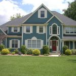 Blue Exterior Front Door House Painting Color