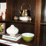 Bookcase Accessories Like Books Vases And Kitchen Pieces