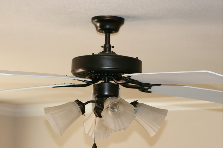 Brassy Ness More Spray Painted Ceiling Fan