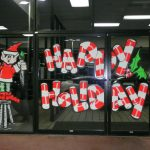 Bright Fluorescent Painted Cartoons Bring Holiday Cheer All