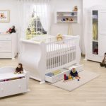 Bright Nursery Interior Ideas Painted White Baby Bedroom Furniture