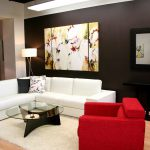 Brown Paint Colors For Small Living Room White And Red