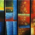 Canvas Set Modern Abstract Fine Art Wall Inches Large