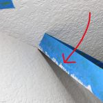 Ceiling Paint That Seeped Under Blocking The Wall From Leaking