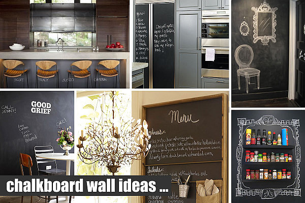 Chalkboard Walls Paint Ideas When Writing