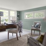 Coastal Home Office Walls Stratton Blue Trim Ceiling