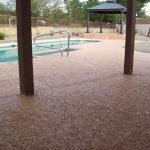 Concrete Coatings Using Lace Texture For Pool Deck Phoenix The