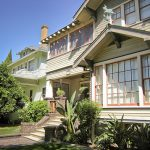 Craftsman Style Home Pale Green And Rusty Red Paint Colors