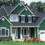 Dark Green Color Home Paint Exterior