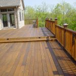 Deck Staining Fence