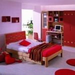 Designs For Bedrooms Pink Wall Painting Red Furniture Bedroom