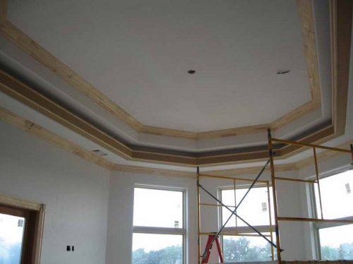 Digital Graphy Above Section Trey Ceiling Paint Ideas