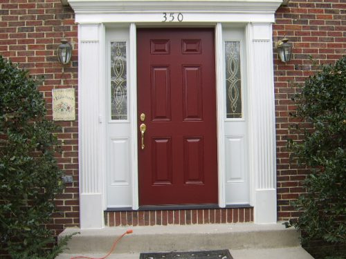 Door After Exterior Paint Done Homeowner Front