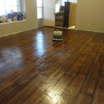 Faux Hardwood Concrete Flooring
