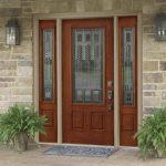 Fiberglass Front Doors Painting Ideas Stone Wall