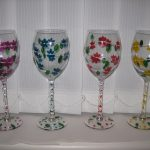 Flower Designs For Glass Painting Paintedonglass