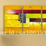 Font Abstract Painting Canvas Wall Art Home