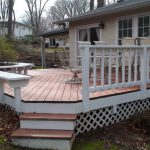 Freshly Stained And Painted Deck New Lattice Windows