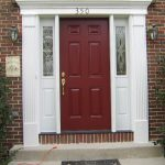 Front Door After Exterior Paint Done Homeowner