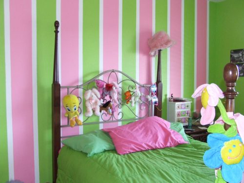 Girls Bedroom Paint Ideas Stripes