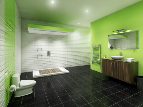 Green Wall Paint For Bath Room