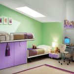 Green Wall Peaceful Purple Color Ideas For Rooms
