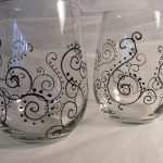 Hand Painted Wine Glasses Ideas Bing Images