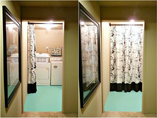 Hide Unfinished Laundry Room Paint Fabric Dans Townhouse