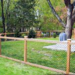 How Install Chain Link Fence Wood Posts
