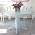 How Paint Dining Room Table Chairs Makeover Reveal