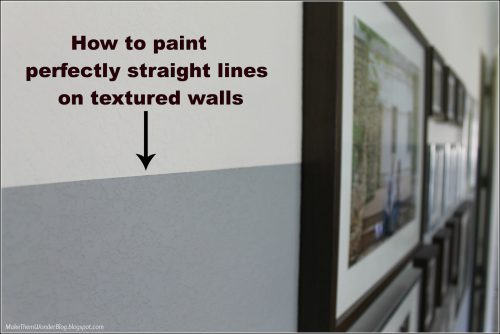 How Paint Straight Lines Textured Walls