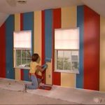 How Paint Stripes Wall