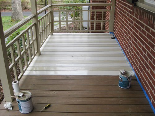 How Paint Wood Deck Front Porch