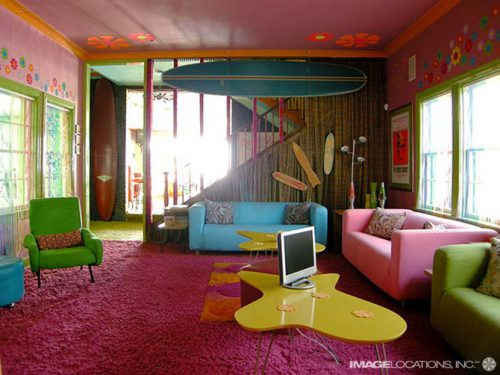 Ideas Cool Room Decorating For Teens Colorful Painting