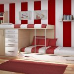 Interior Cool And Inspiring Room Paint Ideas Red White