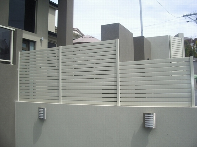 Interior Design Gallery Steel Privacy Fence White Color Paint