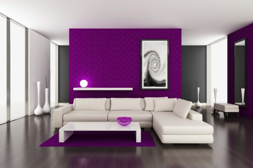 Interior Purple Color Painting Ideas For Walls