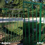 Iron Fence Painting Jay Works Cypress Rosehill