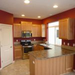 Kitchen Accent Wall Painting Color Ideas Modern Paint
