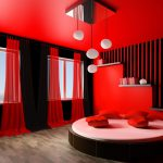 Light Red Painted Rooms Images