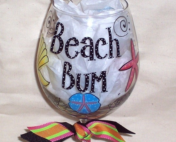 Love The Painted Wine Glasses