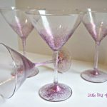 Martini Glasses For Your Cosmo Hand Painted Littlebitsoflucy