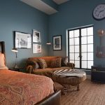 Men Bedroom Design Ideas Blue Wall Paint And Classic