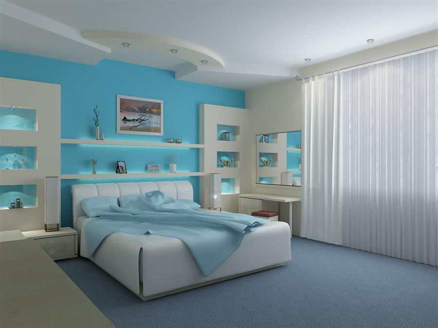 Modern Blue Bedroom Painting Ideas Images Graffiti Graphic Design